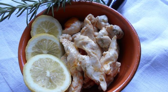 boccconcini pollo al limone