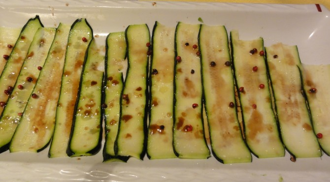 carpaccio di zucchine