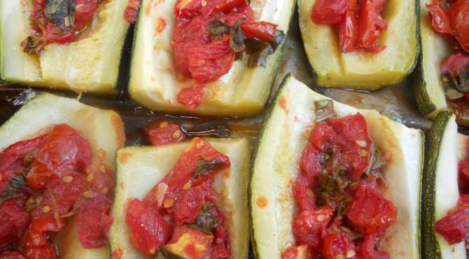 zucchina gratinata al profumo d'estate