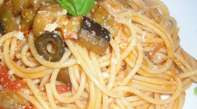 linguine melanzane e olive