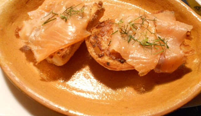 crostini salmone gorgonzola e mascarpone