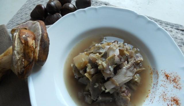 zuppa carciofi,porcini e castagne 012