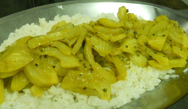 finocchi brasati al curry