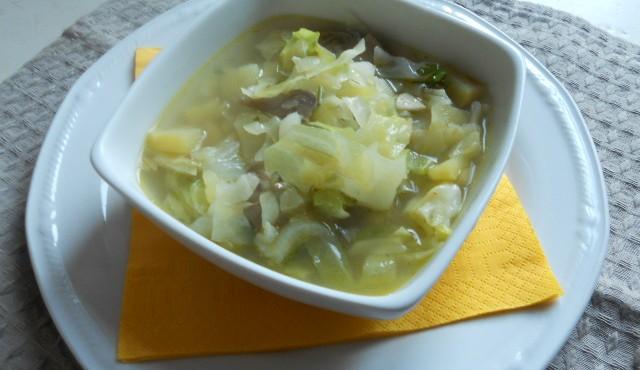 zuppa di verza e carciofi 005