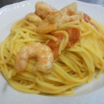 chitarra mazzancolle e crema di fave 009